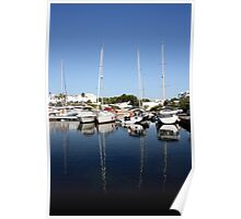 boats docked Poster