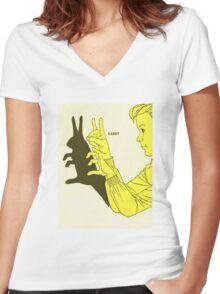 Run Rabbit Run : Such a Good Boy Women's Fitted V-Neck T-Shirt