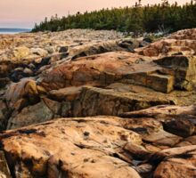 Early Morning Rocky Cliffs, Bar Harbor, Maine Sticker