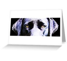 Black Labrador Retriever Dog Art - Lab Eyes Greeting Card
