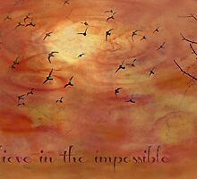 Believe in the impossible - greeting card by Scott Mitchell