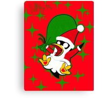 Hippo the Christmas Penguin! Canvas Print