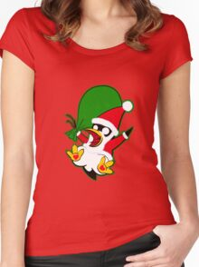 Hippo the Christmas Penguin! Women's Fitted Scoop T-Shirt