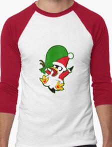 Hippo the Christmas Penguin! Men's Baseball ¾ T-Shirt