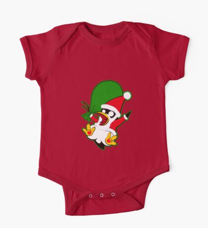 Hippo the Christmas Penguin! One Piece - Short Sleeve