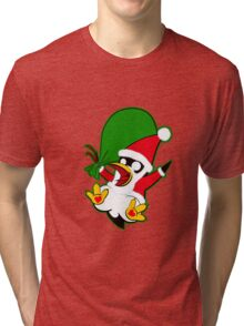 Hippo the Christmas Penguin! Tri-blend T-Shirt