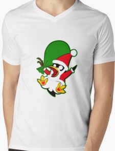 Hippo the Christmas Penguin! Mens V-Neck T-Shirt