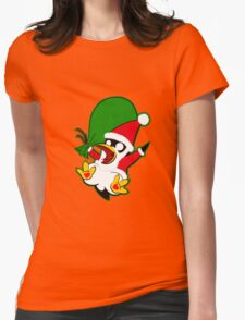 Hippo the Christmas Penguin! Womens Fitted T-Shirt