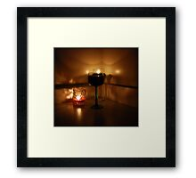 Wine And Candles Framed Print