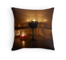 Wine And Candles Throw Pillow