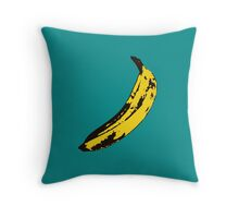 Banana Andy Warhol for scale Throw Pillow