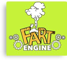 Fart Engine Hilarious Canvas Print