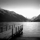 Lake Rotoiti, New Zealand b/w by Heike Richter