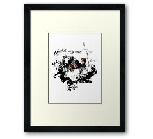 """James and Lily Potter """"Until The Very End"""" Framed Print"""