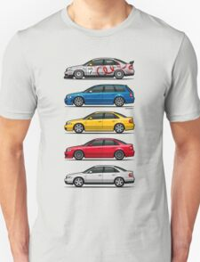 Stack of Audi A4 B5 Type 8d T-Shirt