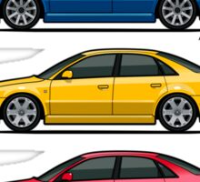 Stack of Audi A4 B5 Type 8d Sticker