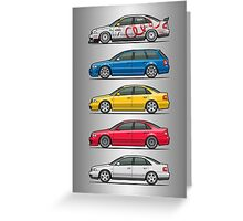 Stack of Audi A4 B5 Type 8d Greeting Card