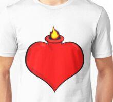 Flaming Heart 1 Unisex T-Shirt