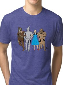 Why does the scarecrow keep saying 'brains'?! Tri-blend T-Shirt