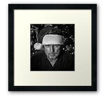 Serious Santa Framed Print