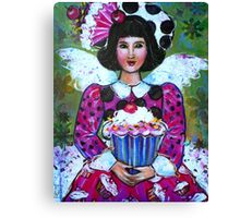 CANDY THE CUP CAKE ANGEL  Canvas Print