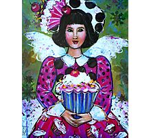 CANDY THE CUP CAKE ANGEL  Photographic Print