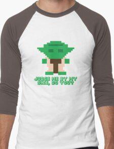 8-Bit Yoda Men's Baseball ¾ T-Shirt