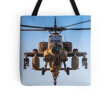Apache AH-64A (Peten) Helicopter in flight Tote Bag