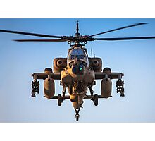 Apache AH-64A (Peten) Helicopter in flight Photographic Print