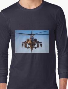 Apache AH-64A (Peten) Helicopter in flight Long Sleeve T-Shirt