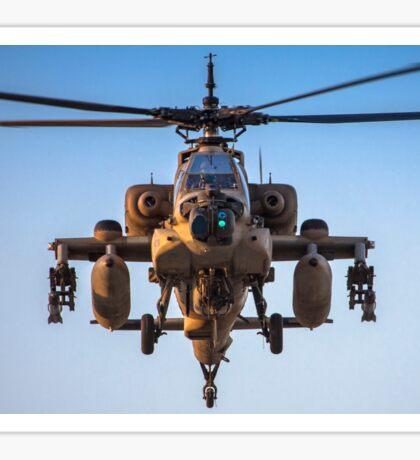 Apache AH-64A (Peten) Helicopter in flight Sticker