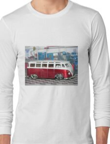 VW BUS red low and cool Long Sleeve T-Shirt