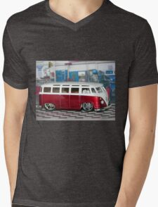 VW BUS red low and cool Mens V-Neck T-Shirt