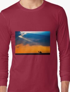Apache AH-644 Longbow (Seraph) Helicopter at sunset Long Sleeve T-Shirt