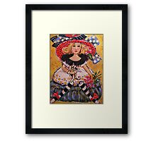 MISS MUFFETS CAT Framed Print