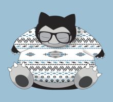 Hipster Snorlax Kids Clothes