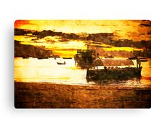 Sunset over Stone Town Port Canvas Print