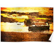 Sunset over Stone Town Port Poster