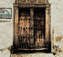 Famous Rustic Zanzibar Doorway Watercolor Print by Amyn Nasser