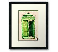 The Green Door Framed Print