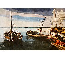 Dhow Sailing Boats Photographic Print