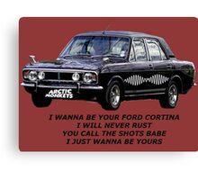Ford Cortina [I Wanna Be Yours] Arctic Monkeys Canvas Print