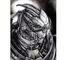 Garrus Portrait in Charcoal - Print Photographic Print