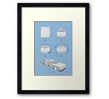 Origami DeLorean Framed Print
