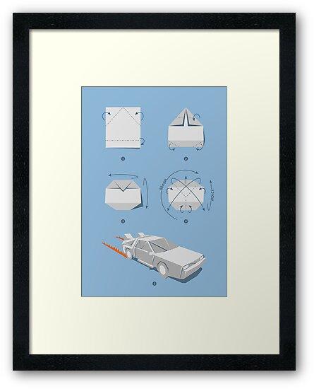 Origami DeLorean by Vincent Carrozza