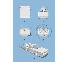 Origami DeLorean Photographic Print