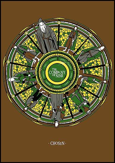 The Company of Nine (LOTR) by girardin27