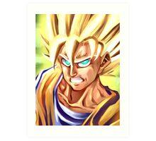 Golden Warrior: SSJ Goku Art Print