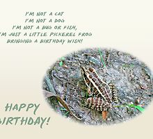 Child's Birthday Greeting Card - Pickerel Frog by MotherNature