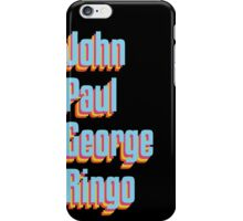 The Beatles 2 - Paul, John, Ringo & George iPhone Case/Skin